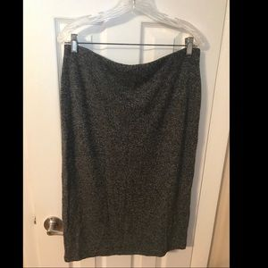 Charcoal Gray knee length pencil skirt size L